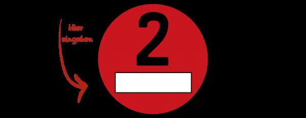 Feinstaubplakette (ROT)