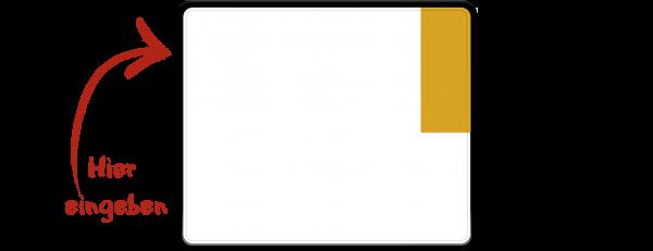 Kennzeichen (Kurzzeitkennzeichen, Überführungskennzeichen) zweizeilig 240mm x 200mm