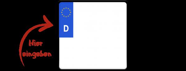 Eurokennzeichen 200mm x 200mm