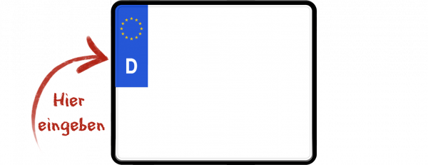 Quad Eurokennzeichen 250mm x 200mm