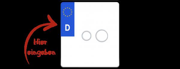 Eurokennzeichen nach neuer Norm 180mm x 200mm