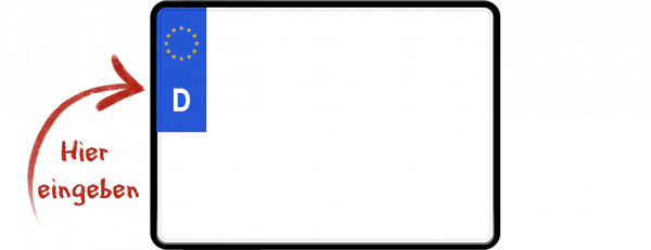 Eurokennzeichen (Saisonkennzeichen, zweizeilig) 280mm x 200mm