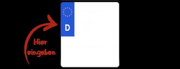 Eurokennzeichen 180mm x 200mm