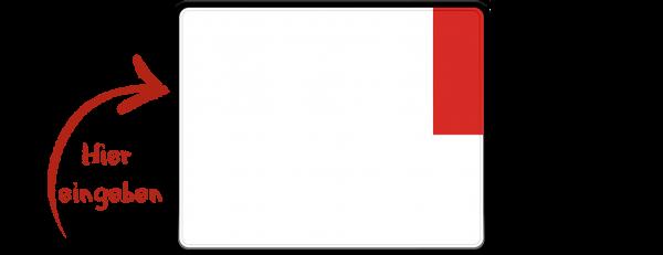 Kennzeichen (Ausfuhrkennzeichen, Exportkennzeichen) zweizeilig 250mm x 200mm