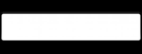 Parkplatzschild weiß reflex 520mm x 110mm x 1mm