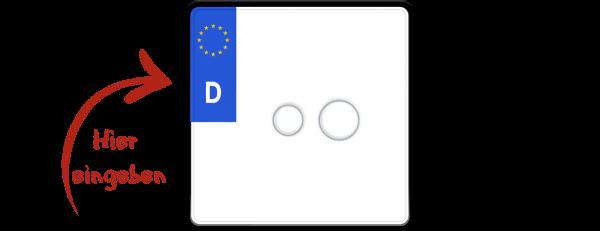 Eurokennzeichen nach neuer Norm 200mm x 200mm