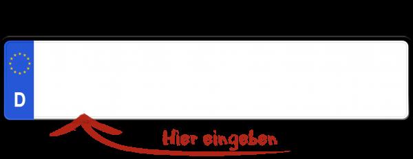 Euro Kennzeichen (E-Kennzeichen für Elektrofahrzeuge) 520mm x 110mm