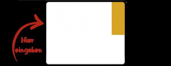 Kennzeichen (Kurzzeitkennzeichen, Überführungskennzeichen) zweizeilig 250mm x 200mm