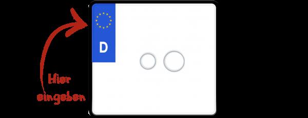 Eurokennzeichen nach neuer Norm 220mm x 200mm