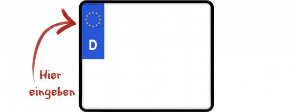Eurokennzeichen (Saisonkennzeichen, zweizeilig) 240mm x 200mm