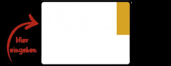 Kennzeichen (Kurzzeitkennzeichen, Überführungskennzeichen) zweizeilig 280mm x 200mm