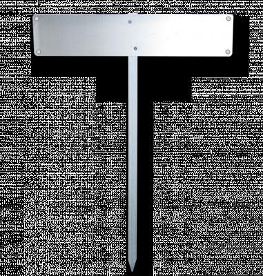 Einschlagpfosten für Kennzeichen