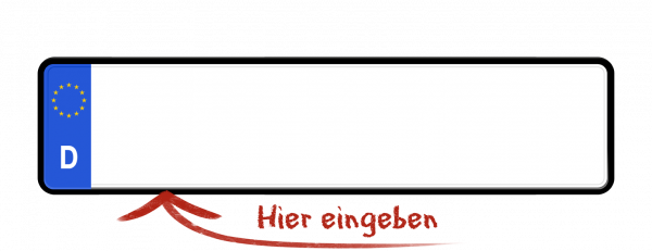 Eurokennzeichen (Saisonkennzeichen) 460mm x 110mm