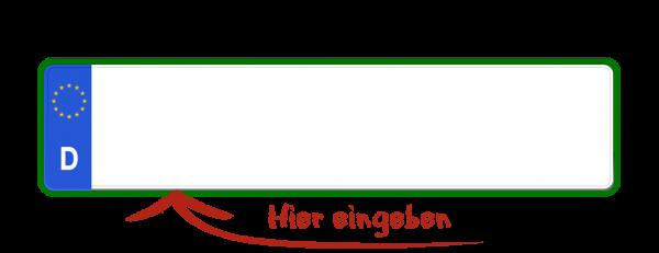 Eurokennzeichen (Steuerbefreit, Grüne Nummer) 460mm x 110mm