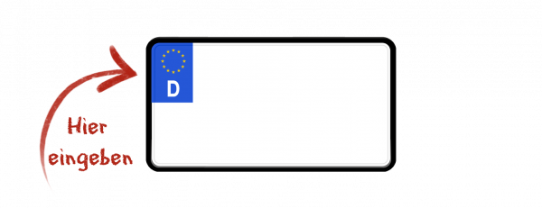 Eurokennzeichen (zweizeilig verkleinert) 240mm x 130mm