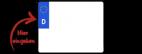 Eurokennzeichen (Saisonkennzeichen, zweizeilig) 250mm x 200mm
