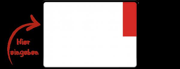 Kennzeichen (Ausfuhrkennzeichen, Exportkennzeichen) zweizeilig 280mm x 200mm