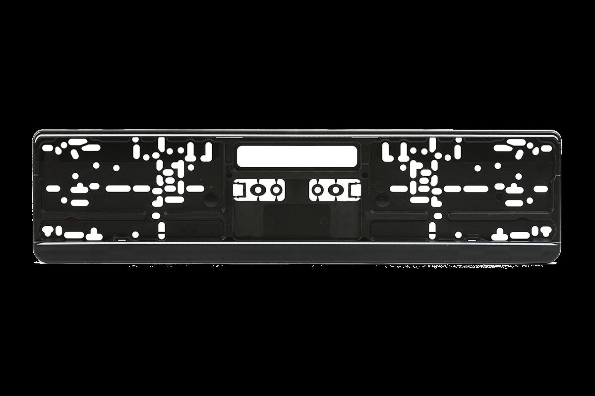 Kennzeichenhalter Kunststoff schwarz 460mm x 110mm | 123Autokennzeichen